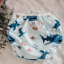 Load image into Gallery viewer, My Little Gumnut - MARINE LIFE - swimming nappy (18-36months)