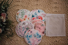 Load image into Gallery viewer, REUSABLE BREAST PADS 5 PAIRS (ASSORTED PATTERNS) - My Little Gumnut - Green Lily