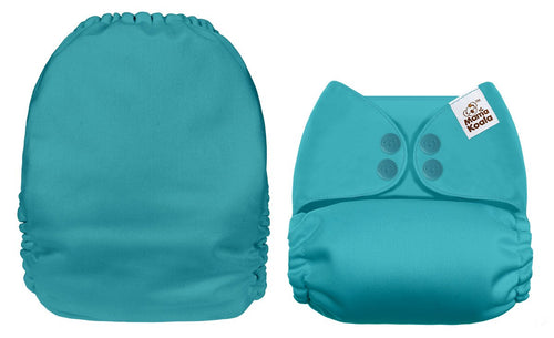 Mama Koala - Solid Light Blue - Green Lily
