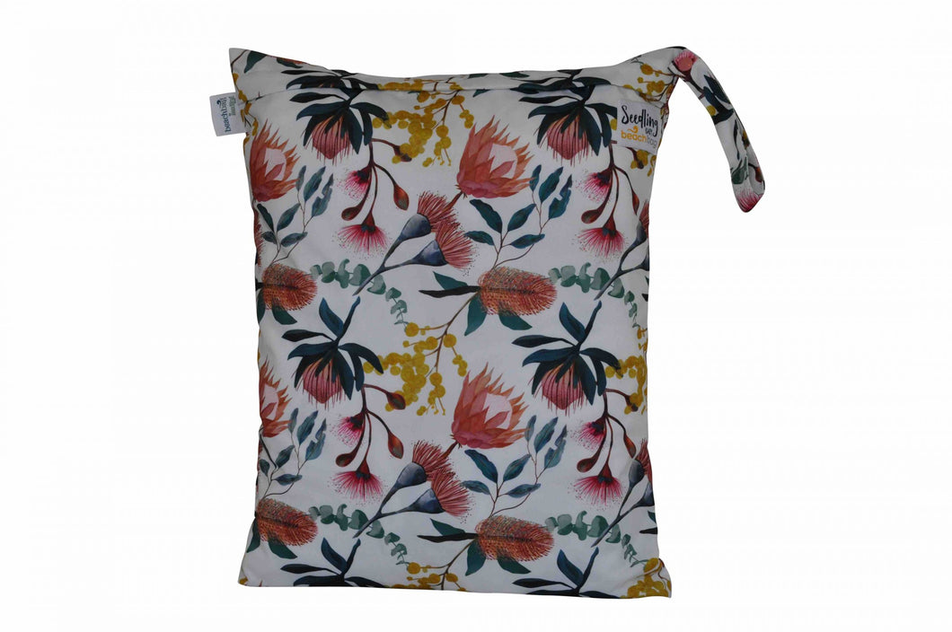 BEACH BAG Reusable Wetbag - Native - Green Lily