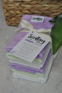 Re-usable Wipes (pack of 6) - Seedling Baby - Green Lily