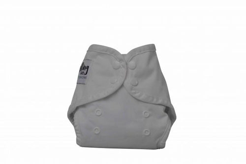 NEWBORN - Seedling Baby - Mini-Fit Pocket Nappy - Cirrus - Green Lily