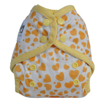 Load image into Gallery viewer, Copy of NEWBORN - Seedling Baby - Mini-Fit Pocket Nappy - Blue Hearts