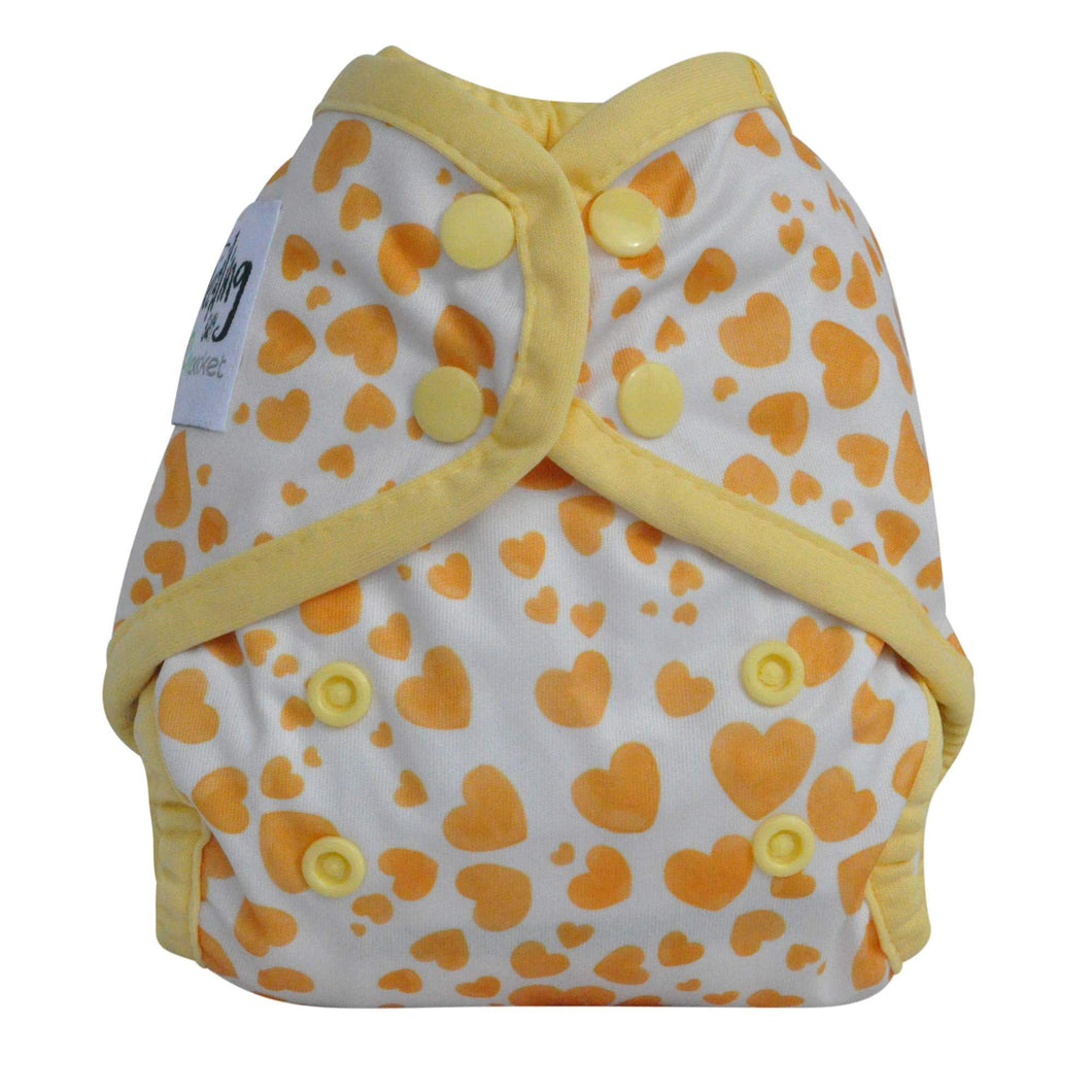 Copy of NEWBORN - Seedling Baby - Mini-Fit Pocket Nappy - Blue Hearts