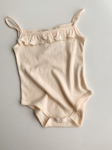 Cream Bodysuit - Green Lily