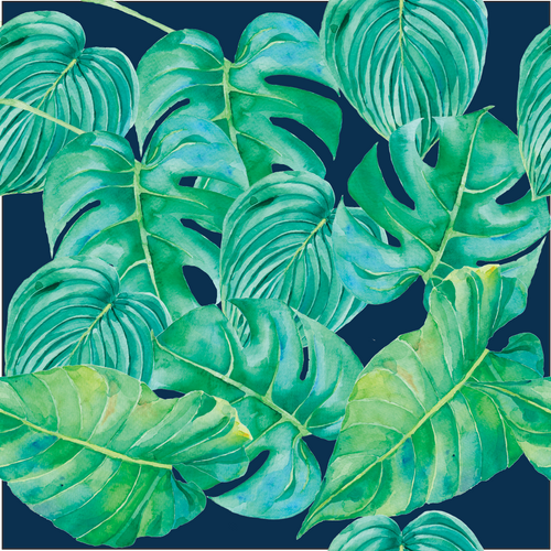 Bare Cub AI2 - Midnight Tropics - Green Lily