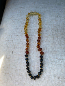 Rainbow Amber Infant Necklace