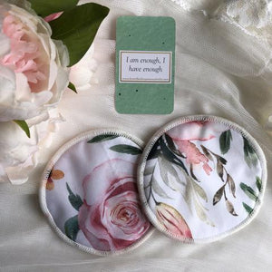 Re-usable Breast Pads - FULL BLOOM - My Little Gumnut - Green Lily