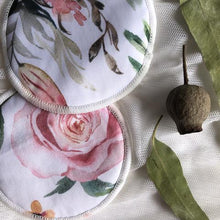 Load image into Gallery viewer, Re-usable Breast Pads - FULL BLOOM - My Little Gumnut - Green Lily