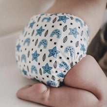 Load image into Gallery viewer, NIGHT NAPPY - My Little Gumnut - SCANDI DREAMS - OSFM MCN - Green Lily