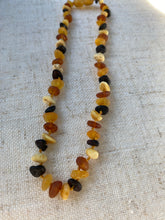 Load image into Gallery viewer, Raw multicolour Amber Infant Necklace