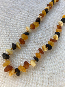 Raw multicolour Amber Infant Necklace