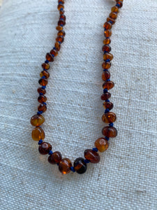 Cognac Amber Infant Necklace