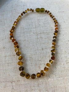Raw Green Amber Infant Necklace