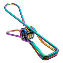 Load image into Gallery viewer, Rainbow Stainless Steel Infinity Clothes Pegs 100 Pack - Green Lily
