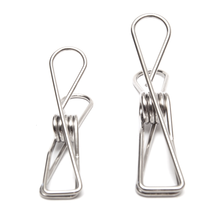Load image into Gallery viewer, Twin Pack Stainless Steel Infinity Clothes Pegs 40 Regular & 10 Large - Green Lily