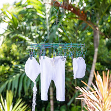 Load image into Gallery viewer, Stainless Steel Sock Hanger with 20 Pegs - RAINBOW - Green Lily