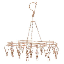 Load image into Gallery viewer, Stainless Steel Sock Hanger with 20 Pegs - ROSE GOLD - Green Lily