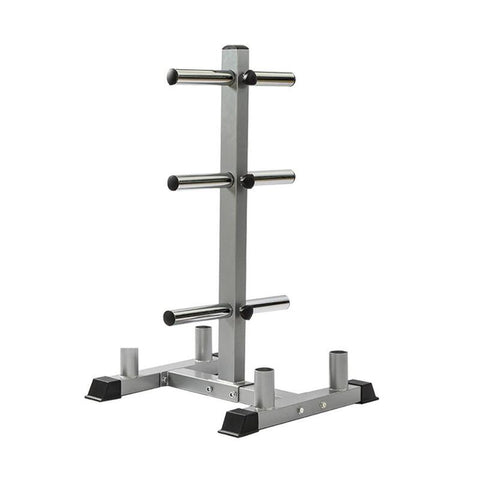 Olympic Weight Plate Holder With Barbell Storage Rack
