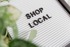 shop local sign image.artisanal face masks, www.masqc.org.