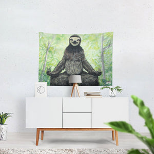 "Sloth Nation Tapestry 80""x60"""