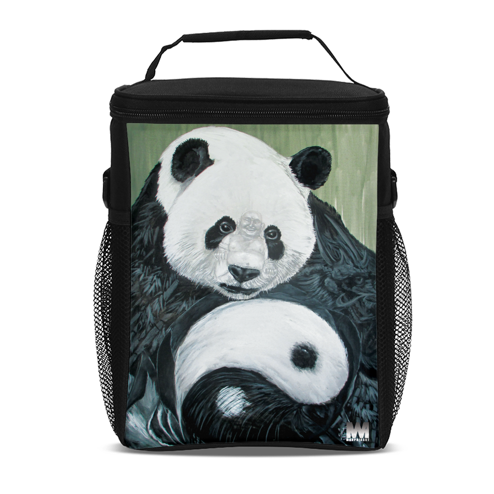 Morphed Panda Tall Insulated Lunch Bag