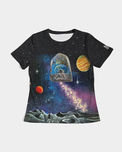 moon rock meditation womens shirt Women's Tee