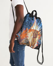 Load image into Gallery viewer, Buddah Tiger Fire Canvas Drawstring Bag