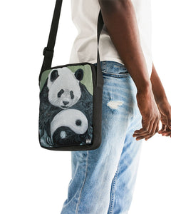 Morphed Panda Messenger Pouch
