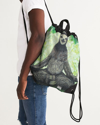 Sloth Nation Canvas Drawstring Bag
