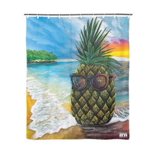 "Pineapple Daze Shower Curtain 72""x72"""