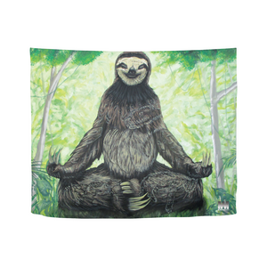 "Sloth Nation Tapestry 60""x51"""
