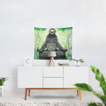 "Load image into Gallery viewer, Sloth Nation Tapestry 60""x51"""