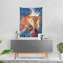 "Load image into Gallery viewer, Buddah Tiger Fire Tapestry 60""x80"""