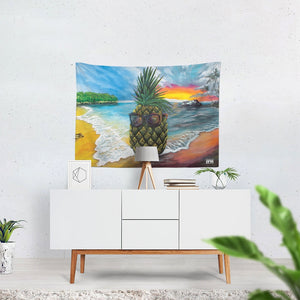"Pineapple Daze Tapestry 80""x60"""