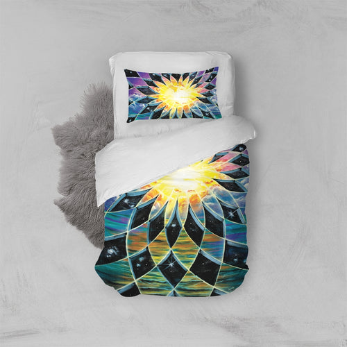 Sunrise Torus Twin Duvet Cover Set