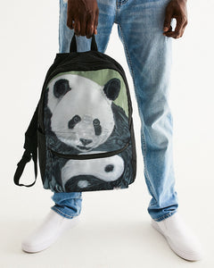 Morphed Panda Small Canvas Backpack