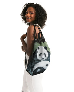 Morphed Panda Canvas Drawstring Bag