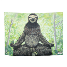"Load image into Gallery viewer, Sloth Nation Tapestry 80""x60"""