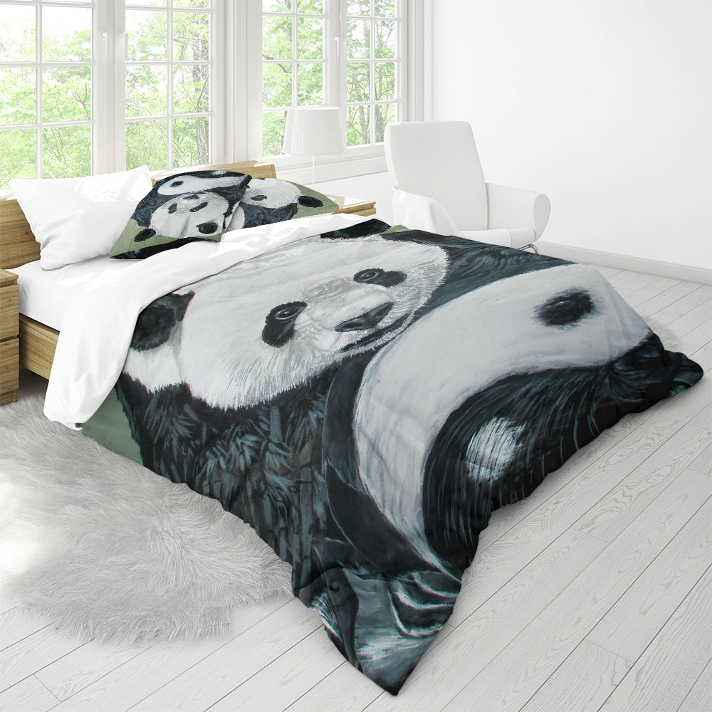 Morphed Panda Queen Duvet Cover Set