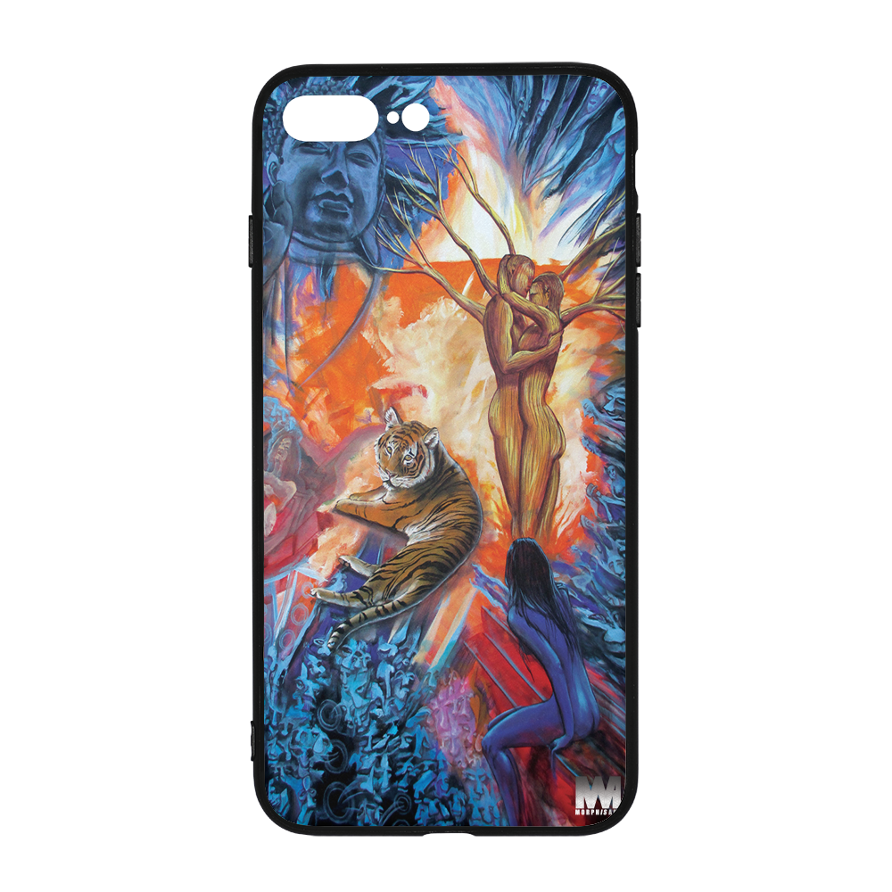 Buddah Tiger Fire iPhone 8 Plus Case