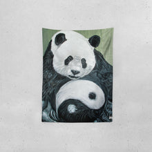 "Load image into Gallery viewer, Morphed Panda Tapestry 60""x80"""