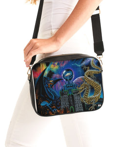 Kosmic Dragon Bass Kingdom Crossbody Bag