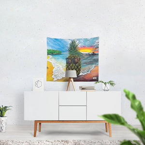 "Pineapple Daze Tapestry 60""x51"""