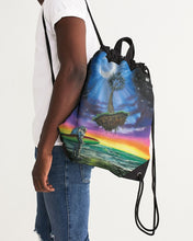 Load image into Gallery viewer, Anything Is Possible Too Canvas Drawstring Bag