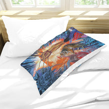 Load image into Gallery viewer, Buddah Tiger Fire Queen Pillow Case