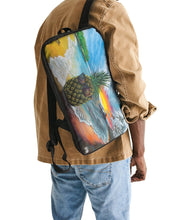 Load image into Gallery viewer, Pineapple Daze Slim Tech Backpack