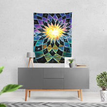 "Load image into Gallery viewer, Sunrise Torus Tapestry 60""x80"""