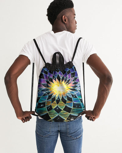 Sunrise Torus Canvas Drawstring Bag