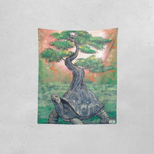 "Load image into Gallery viewer, Bonsai Tortoise Tapestry 51""x60"""